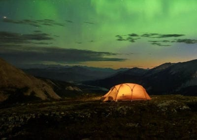 Northern Lights over the Northen Rockies in British Columbia
