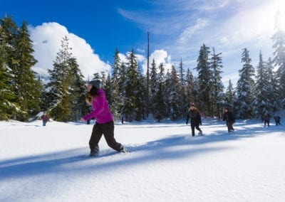 Snowshoeing in the Callaghan Valley with Canadian Wilderness Adventures
