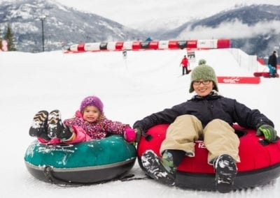 Family fun at the Whistler Tube Park