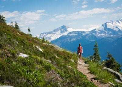 Hiking High Note Trail on Whistler Mountain