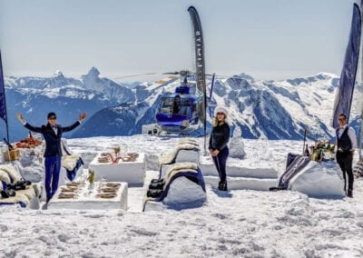 Heli Mountain Top Dining Experience Picnic