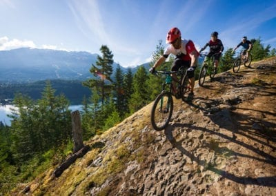 Cross country mountain biking with stunning mountain scenery