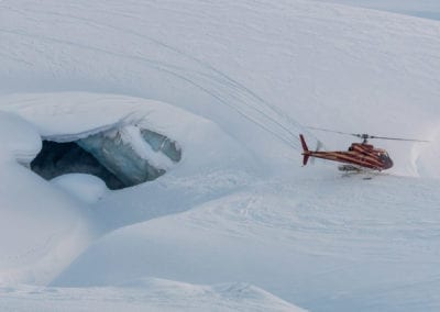 helicopter-next-to-ice-cave-luxury-vip-tours
